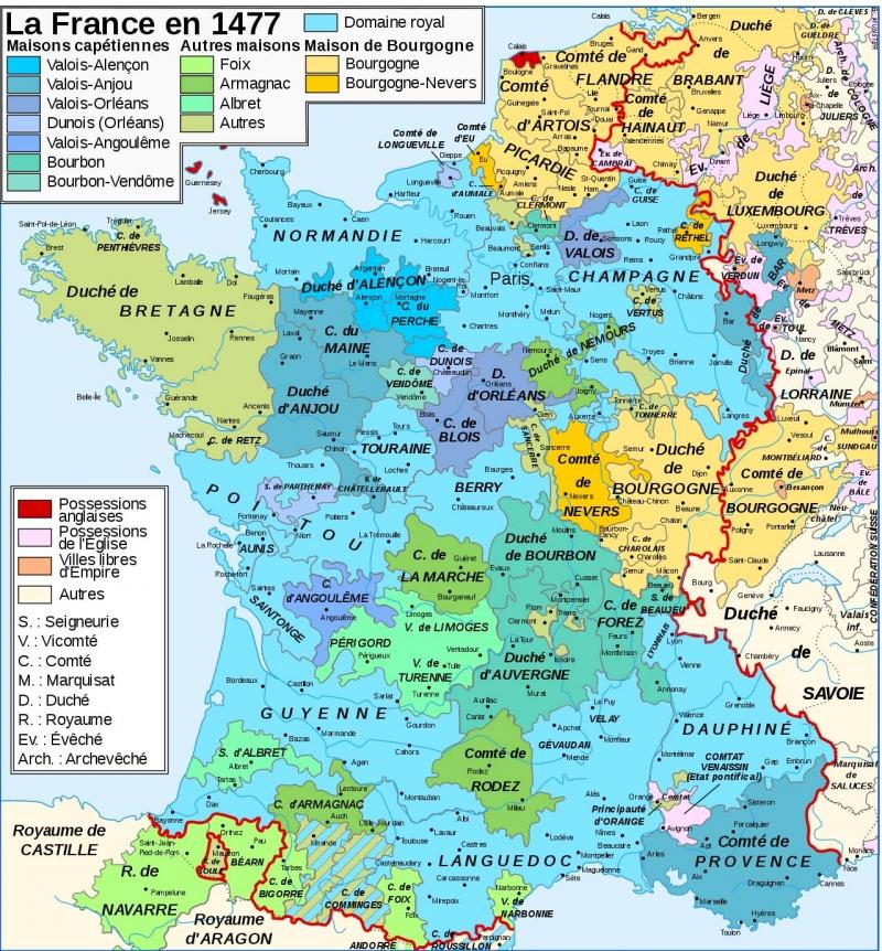 la France en 1477